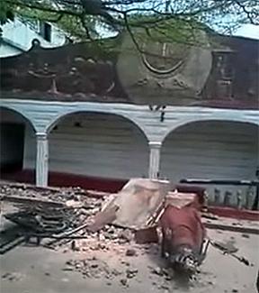 Destruction  of the House's Facade