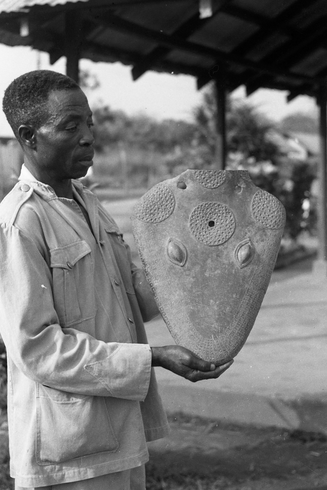 Brass Snake Head Excavated in 1956/57