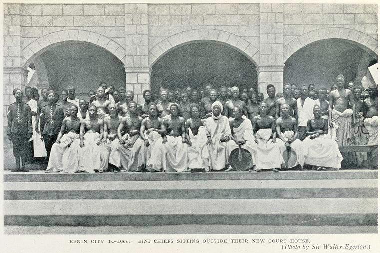 Benin Chiefs in Front of Urhokpota Hall