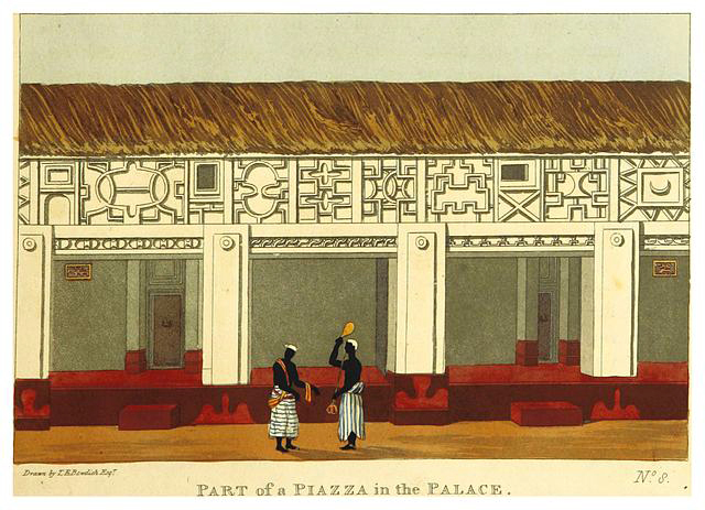 A Palace Courtyard in 1817