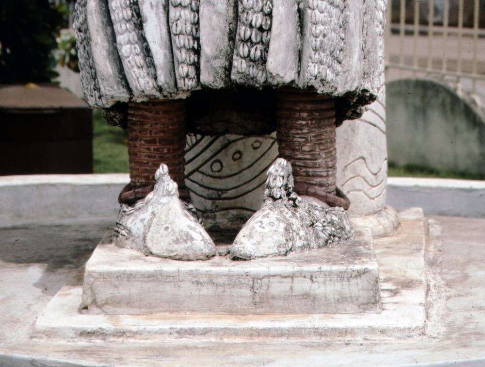 Detail of Fish Shoes, Female Water Sprit Sculpture